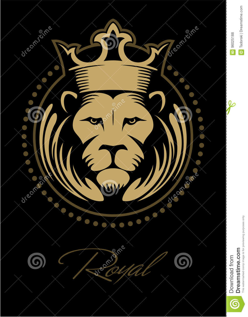 Blue lion logo with crown - photo#50