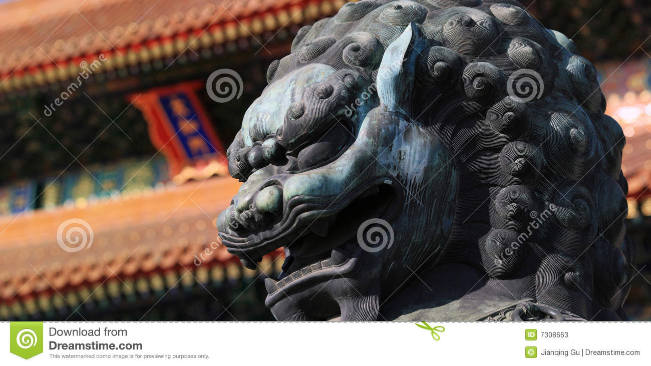 Lion in Forbidden City (Palace Museum)