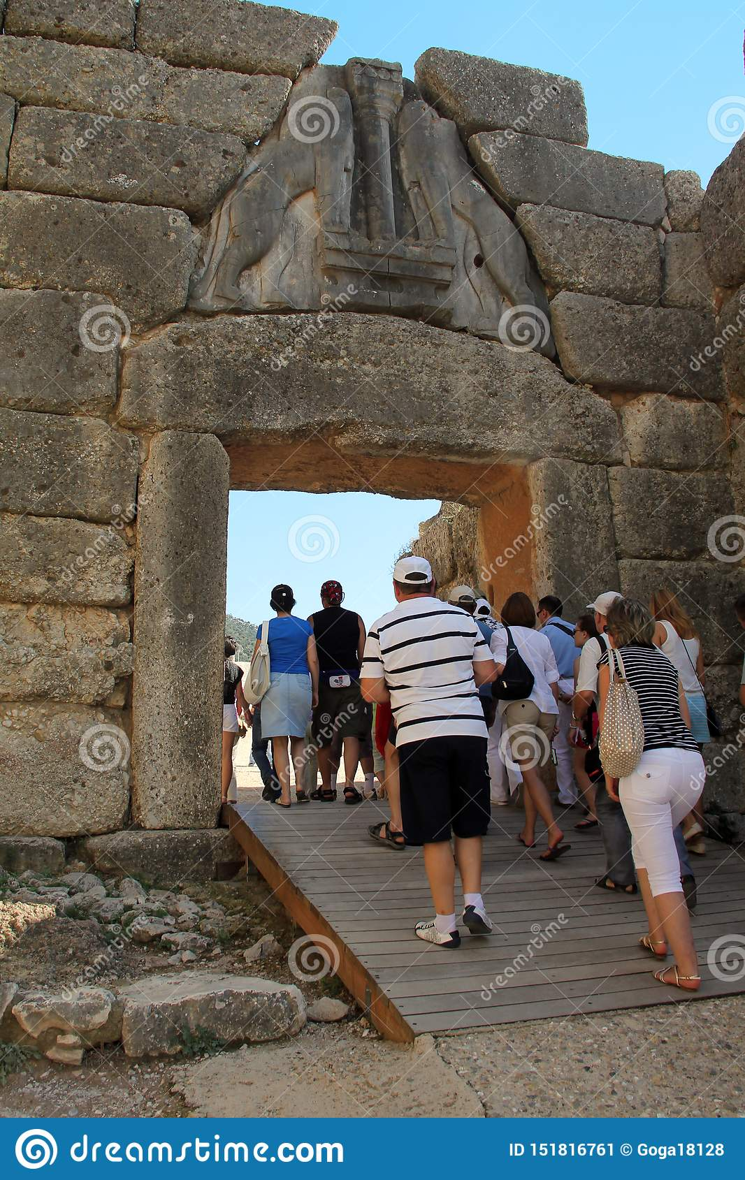 Lion Gate dans Mycenae, Gr?ce