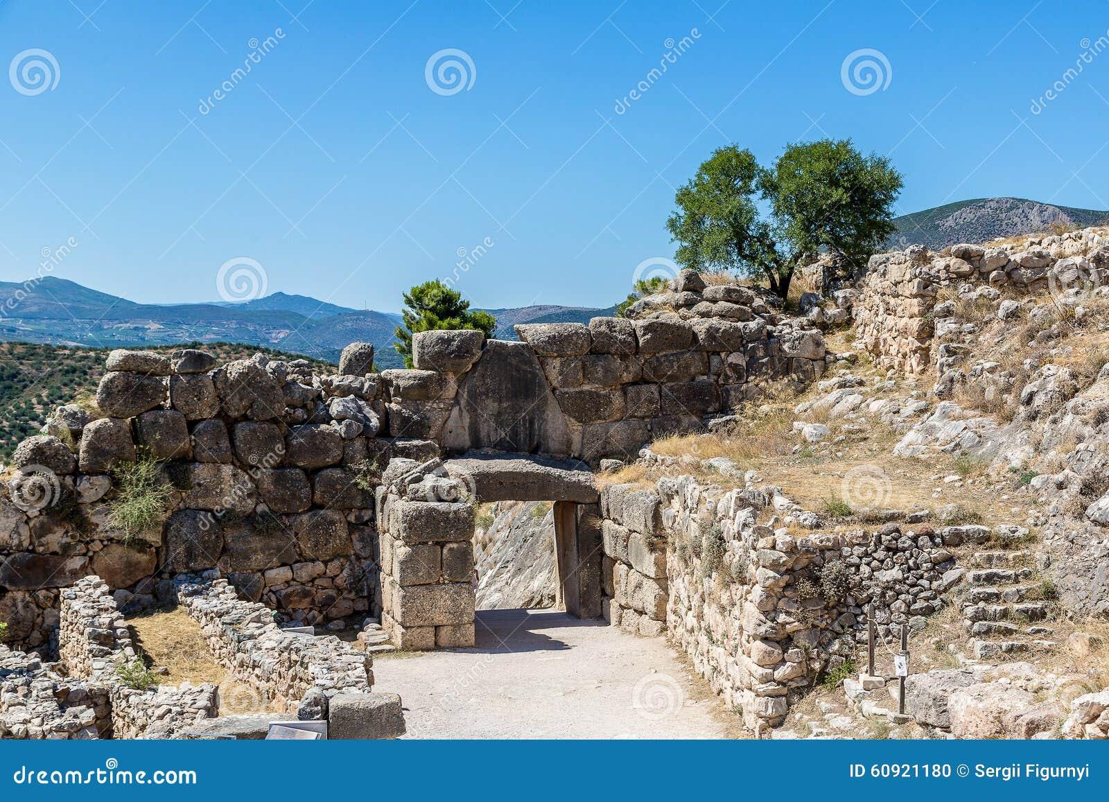 Lion Gate en Mycenae, Grecia