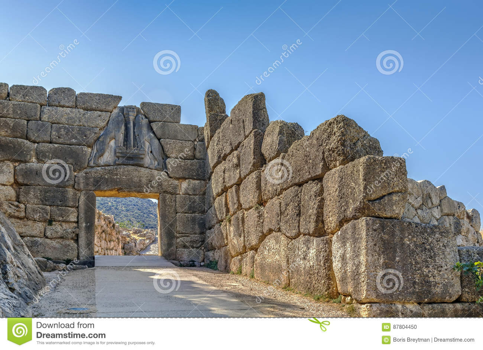 Lion Gate i Mycenae, Grekland