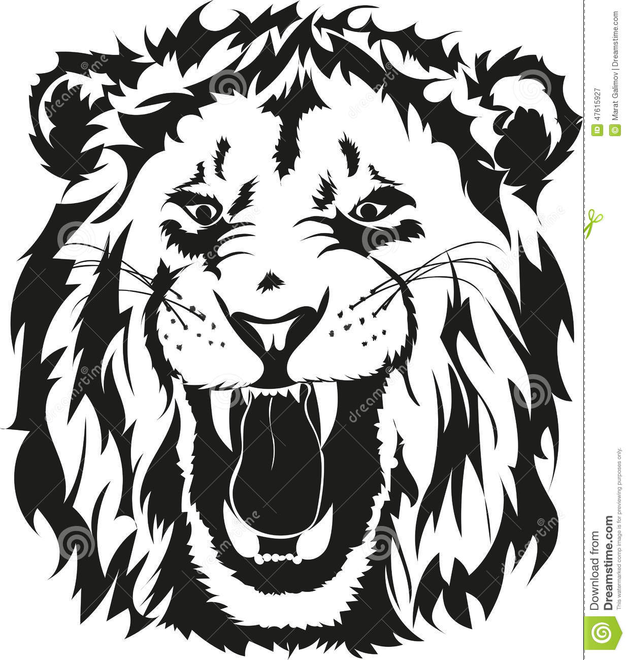 Lion Head Stock Vector Illustration Of Head Print Isolated 47615927