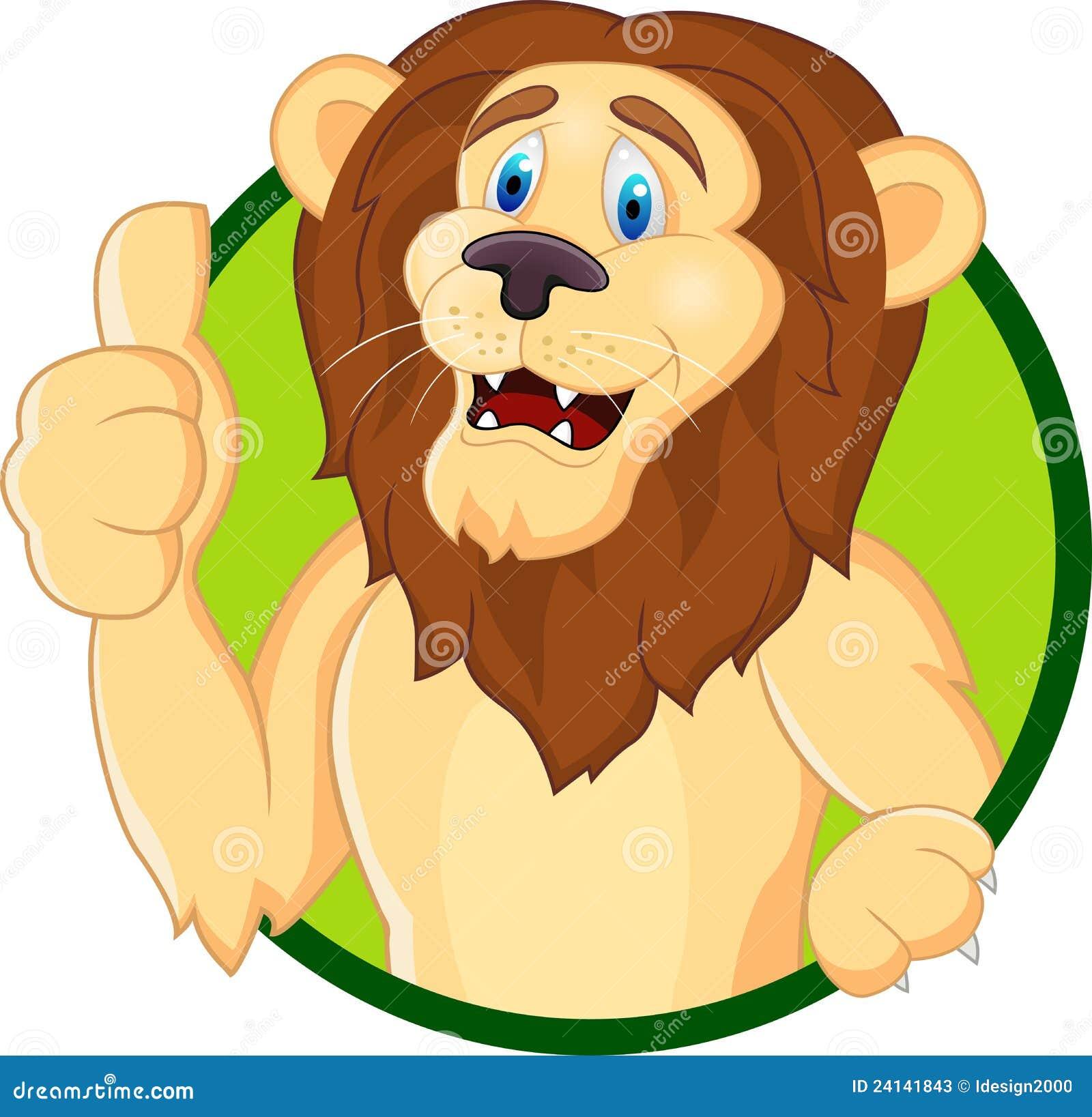 Lion cartoon head - photo#18