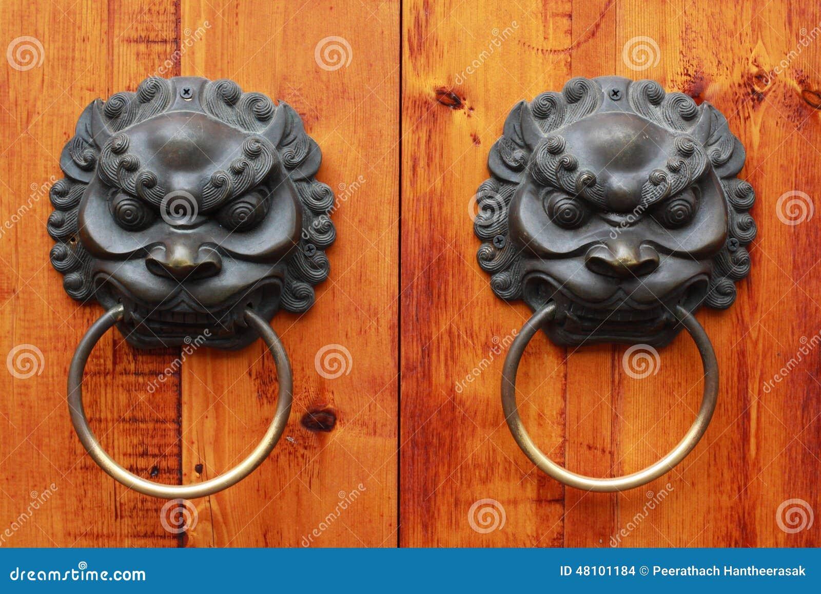 Lion Head Chinese Door Knob, Chengdu, China Stock Photo - Image ...
