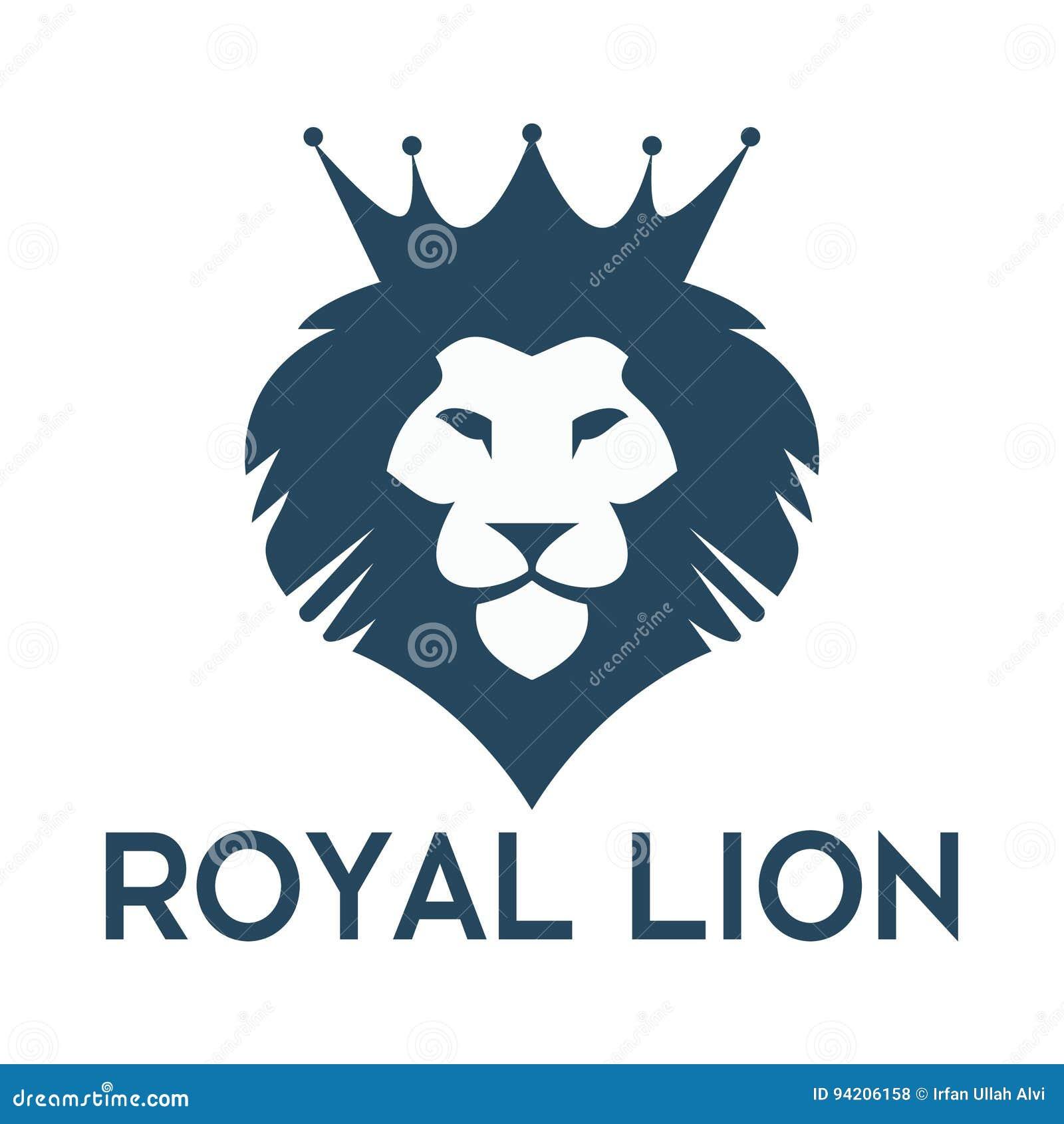 elegant lion logo vector cartoon vector