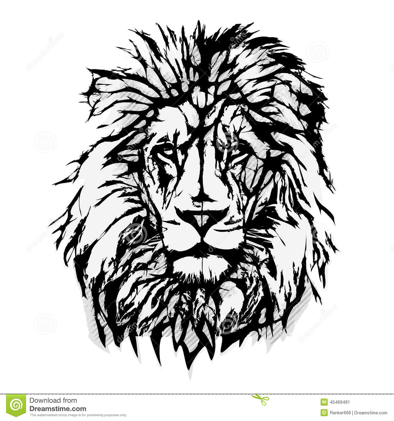 lion head graphic illustration de vecteur illustration du