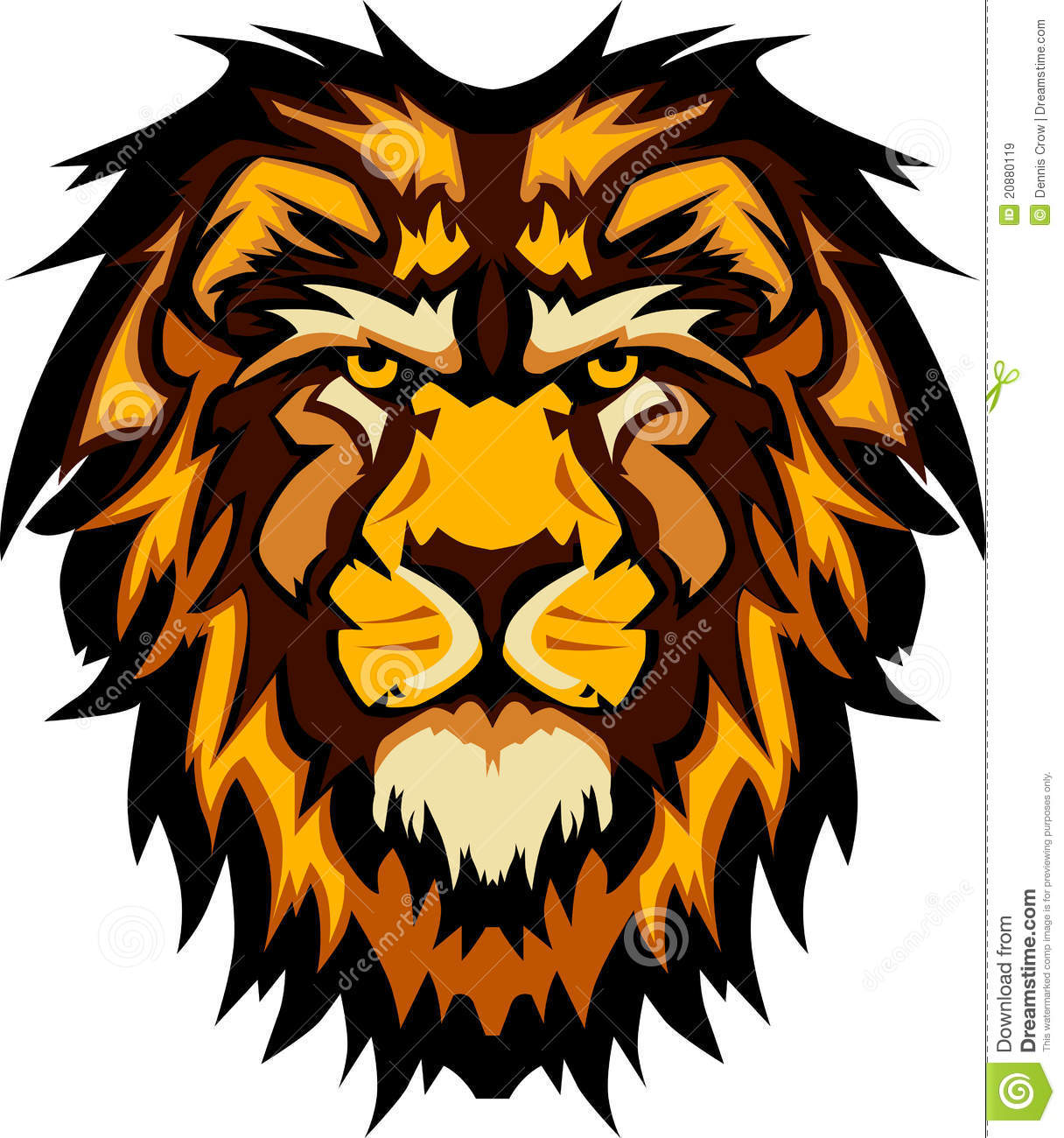 Lion Head Graphic Mascot Vector Image Royalty Free Stock