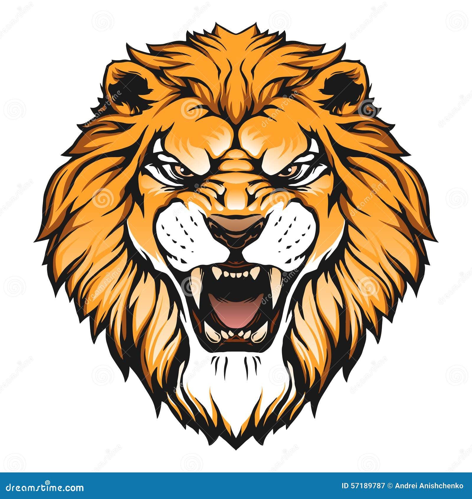lion head illustration stock vector image 57189787 Wolf Head Clip Art Wolf Head Clip Art