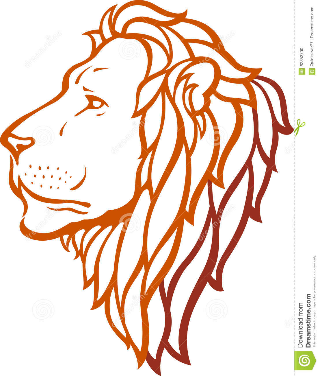 Lion Head Stock Vector Illustration Of Symbol Leader 62853700 Lion face outline tattoo head on. dreamstime com