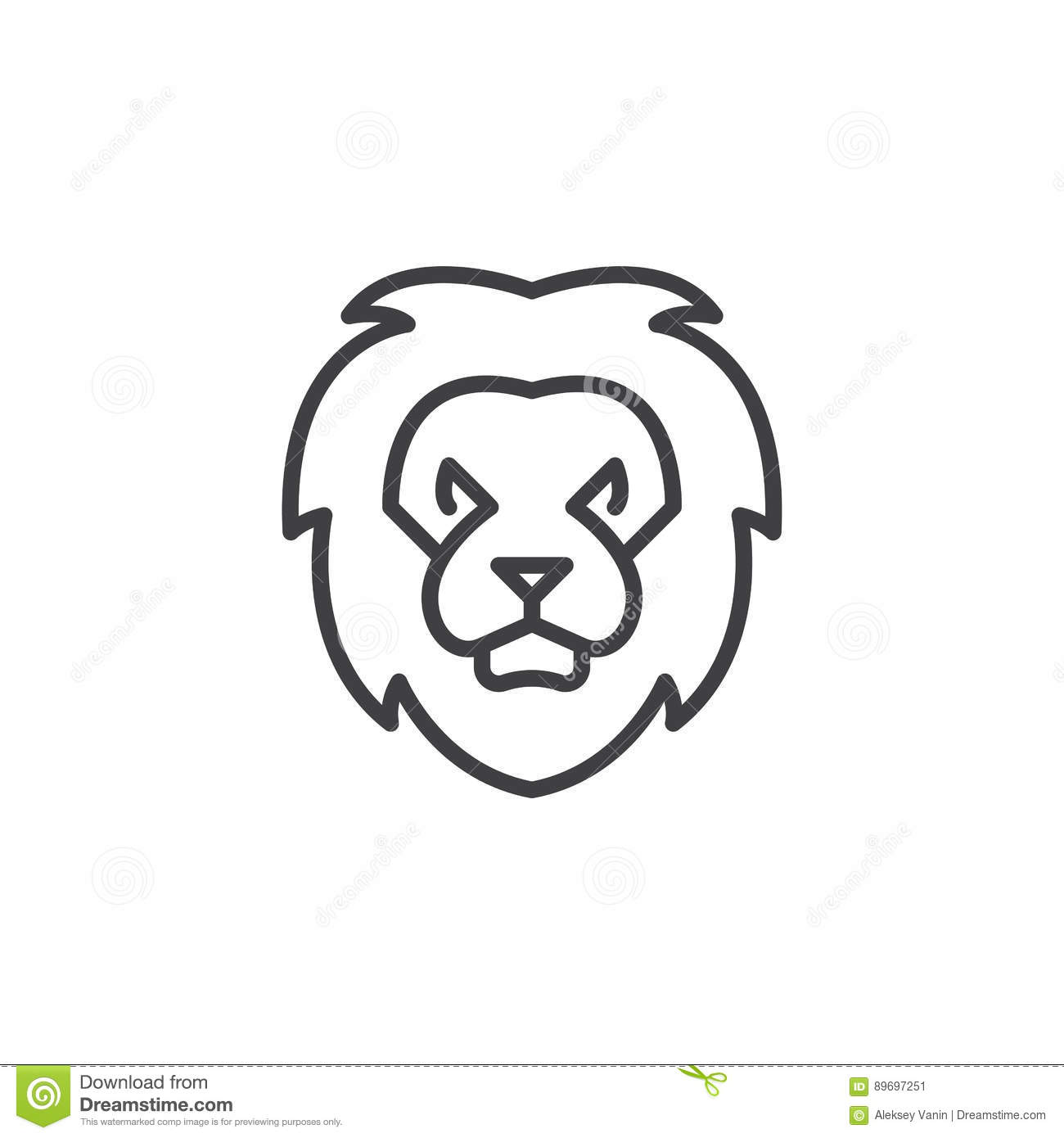 Lion Head Line Icon Outline Vector Sign Stock Vector Illustration Of Pictogram King 89697251 Ultimate free vector design images, eps, psd, ai, png, backgrounds. dreamstime com