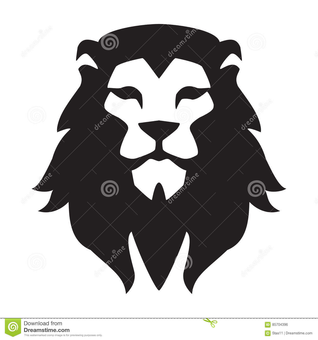 Lion Head Logo Template Animal Wild Cat Face Graphic Sign Pride
