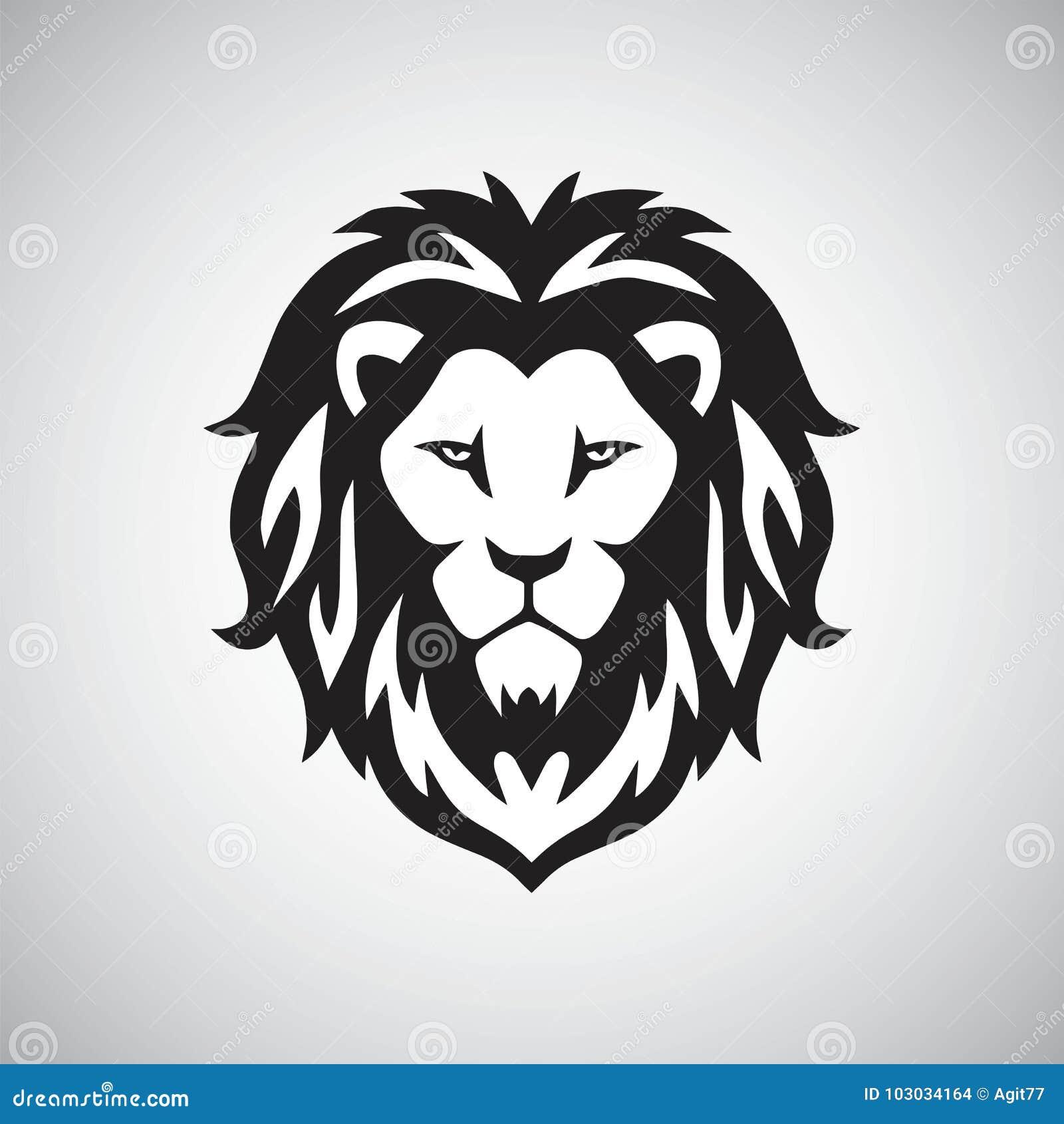 Lion Head Logo Vector stock vector  Illustration of graphic