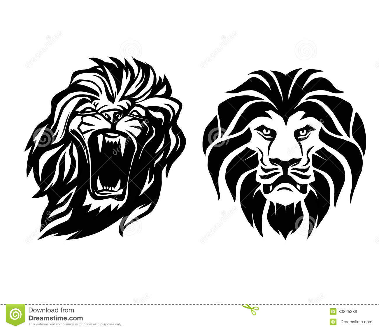 lion head logotype of template creative illustration