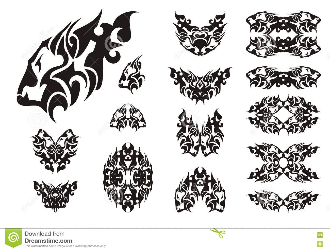 Lion Head Symbols Black On White Stock Vector Illustration Of
