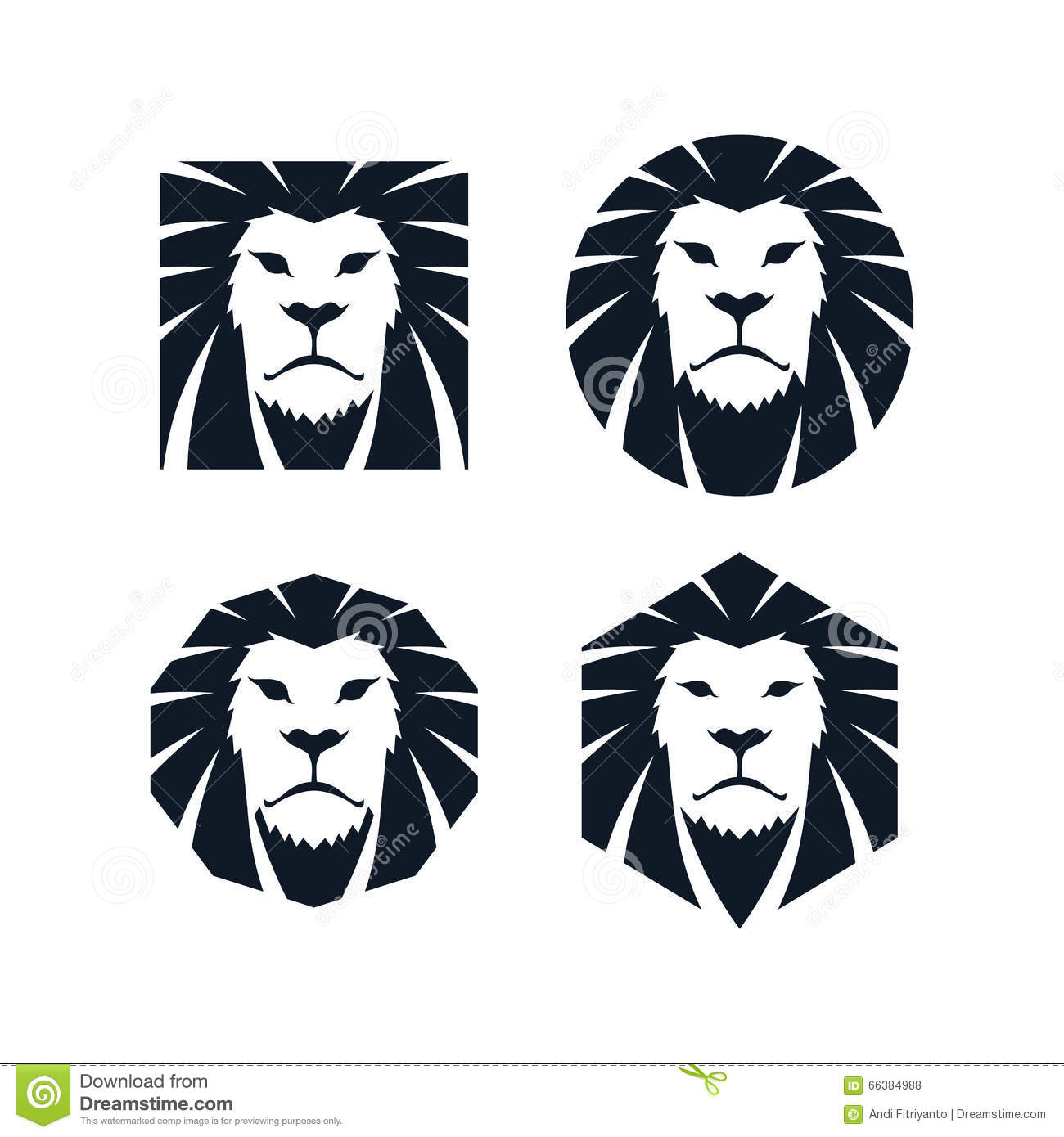 lion head template stock vector illustration of insignia 66384988