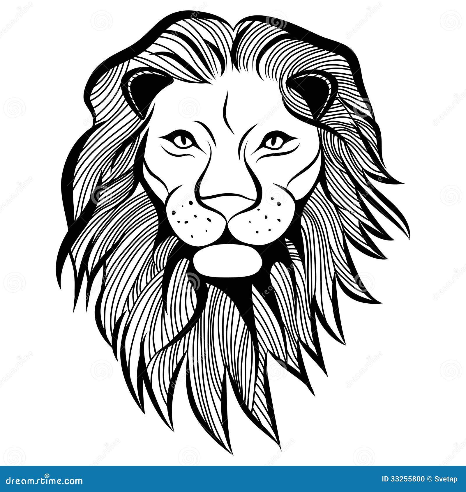 lion head vector animal illustration for tshirt stock