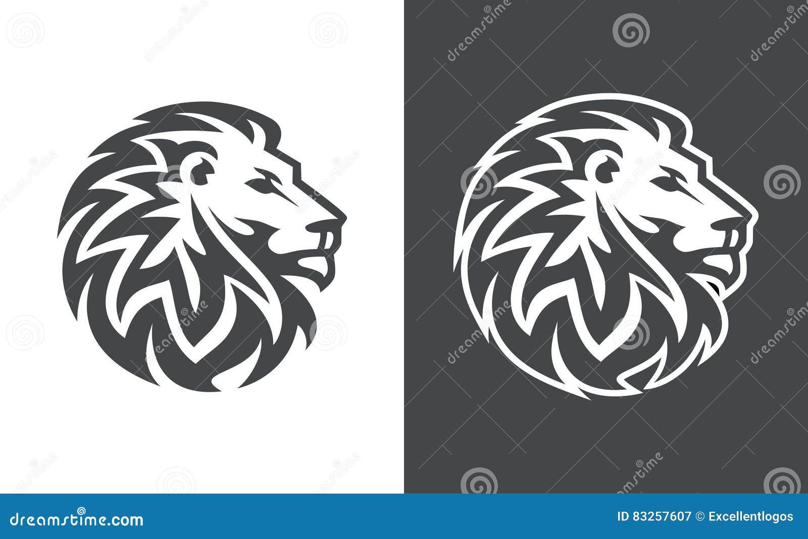 Lion Head Vector Logo Design Abstract Tiger Logo Stock