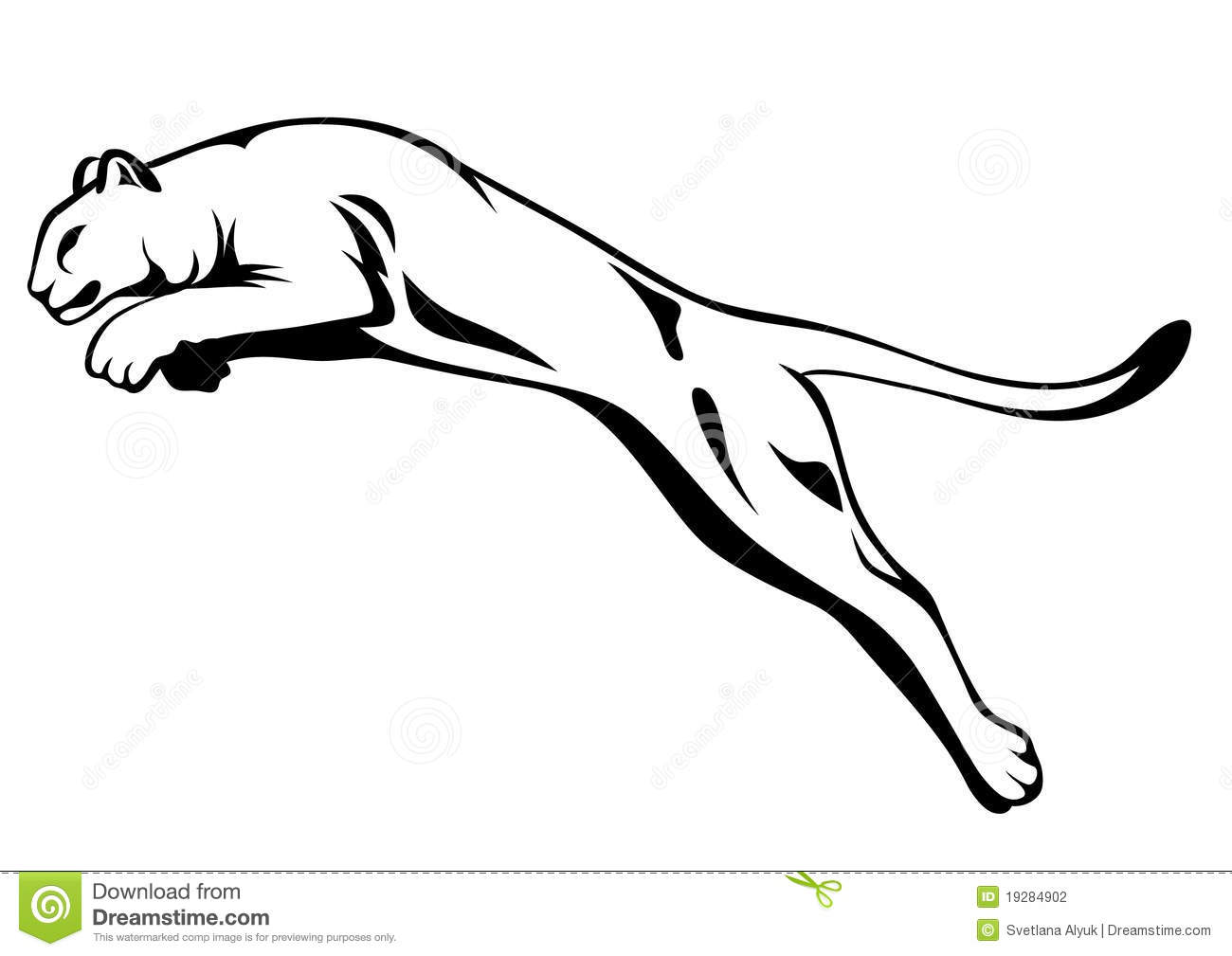 Lion Jumping Vector Stock Photography - Image: 19284902