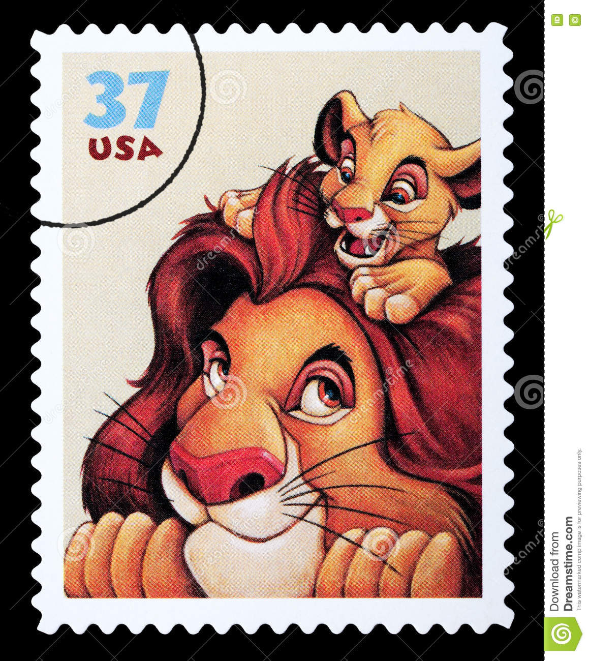 Lion King Disney Postage Stamp