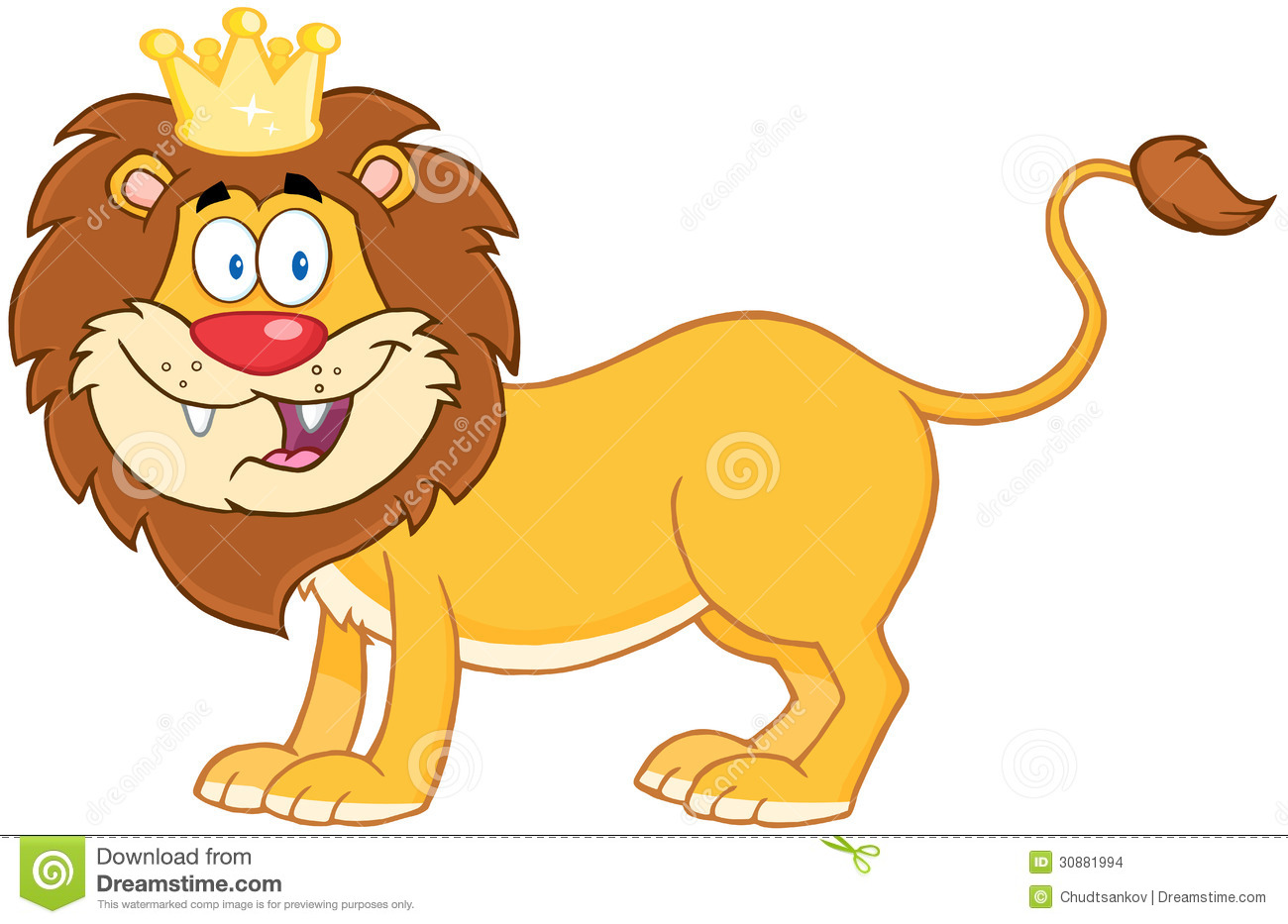 Cartoon Characters Lion King : Lion king of jungle stock images image