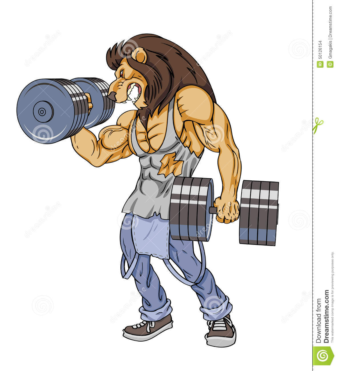 Lion Lifter Stock Illustration - Image: 50126154