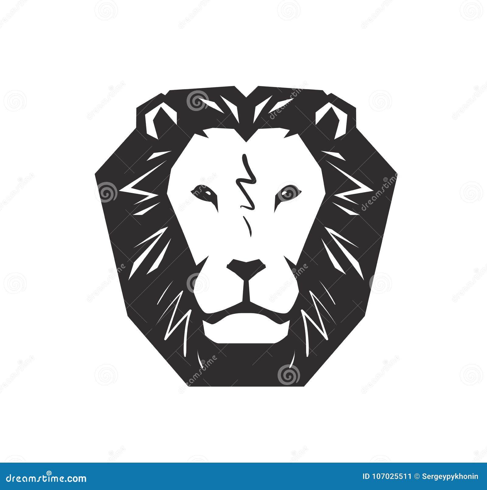 Lion Logo Animal Wildlife Symbol Or Icon Vector Stock Vector