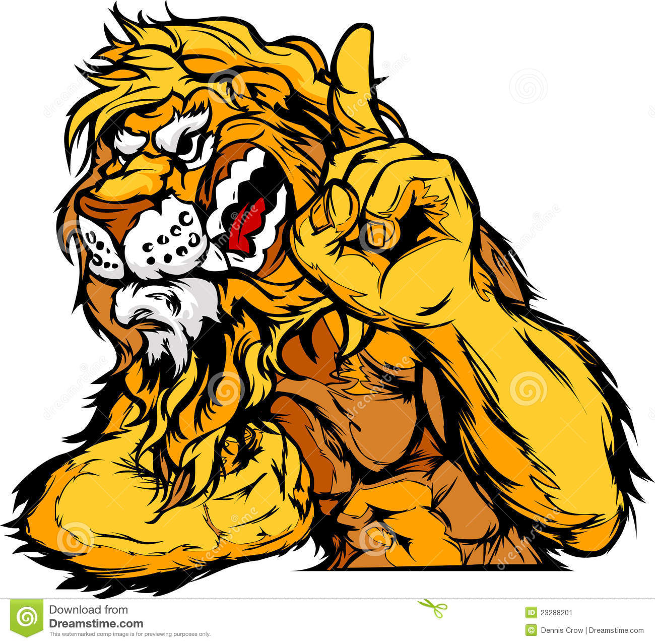Lion Mascot Body Cartoon Stock Vector. Image Of Lion