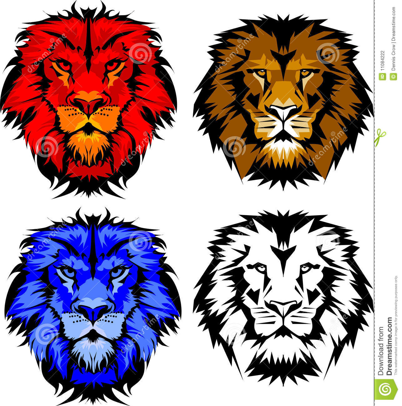 Vector Images of Lion Mascot Logos. Panther Logo Designs