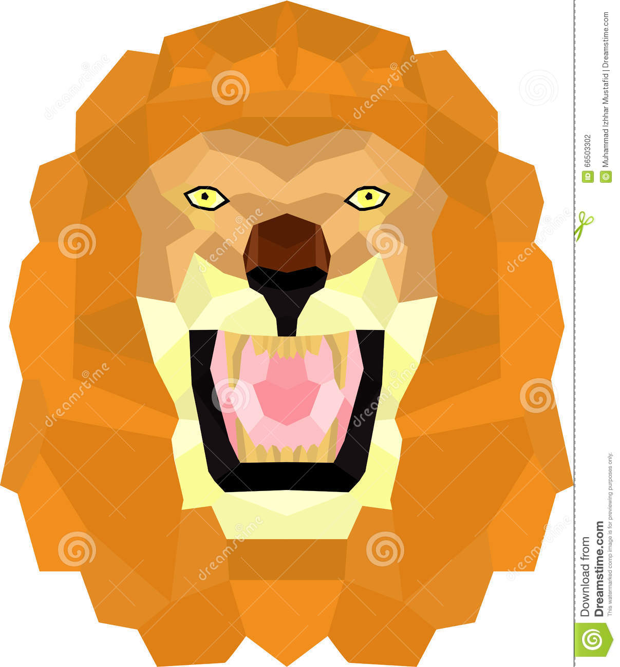 Download Lion Stock Vector Illustration Of Anime Abstract Beautiful