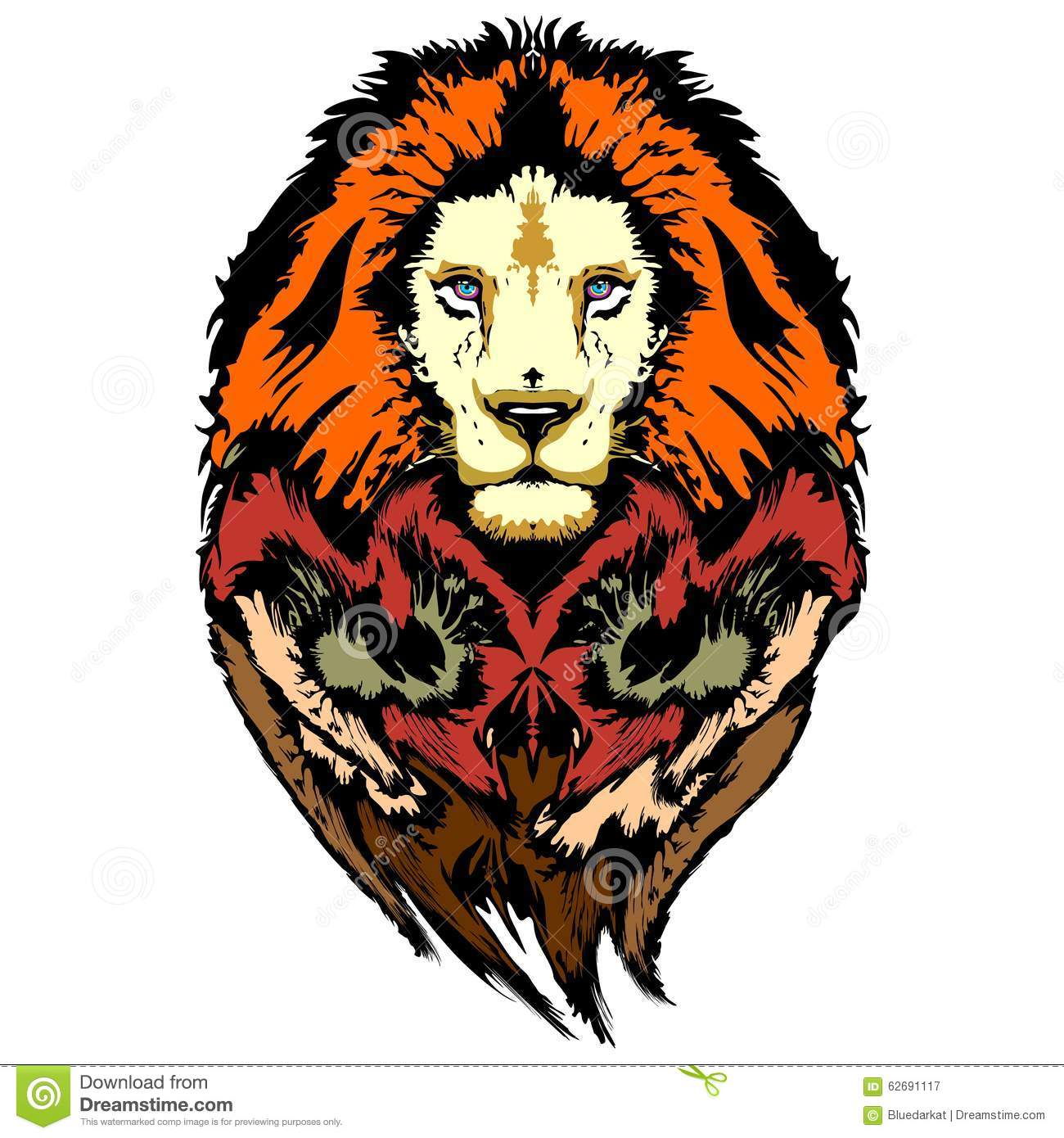 Lion Pop Art Wild Look