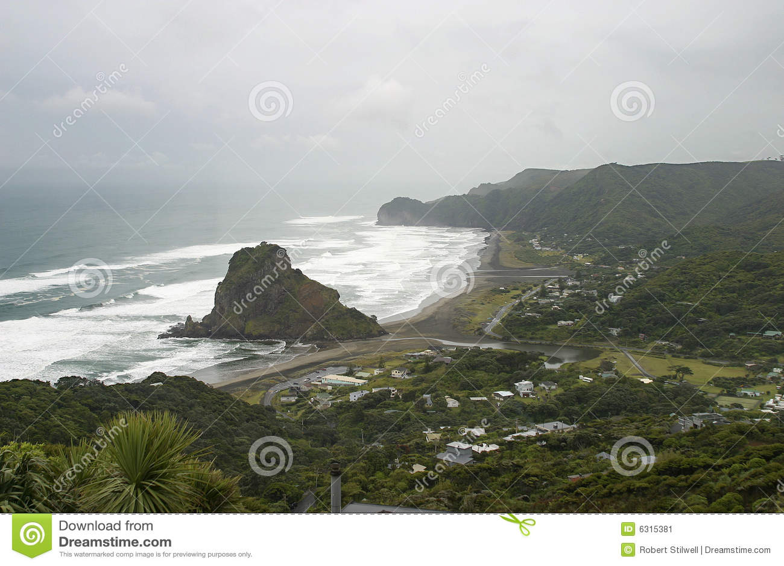Lion Rock at Piha, New Zealand