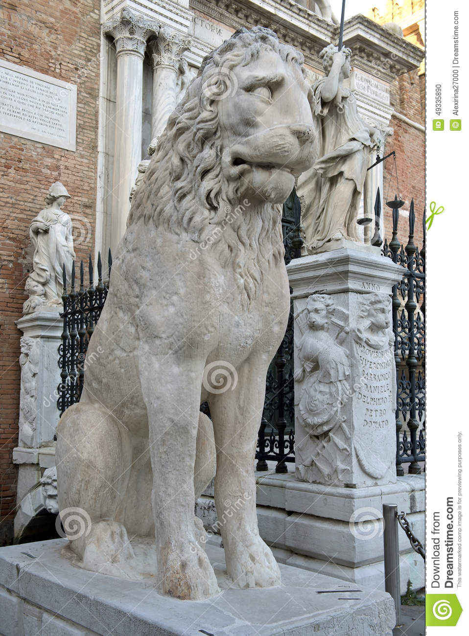 Lion Sculpture at the Venetian Arsenal, Venice