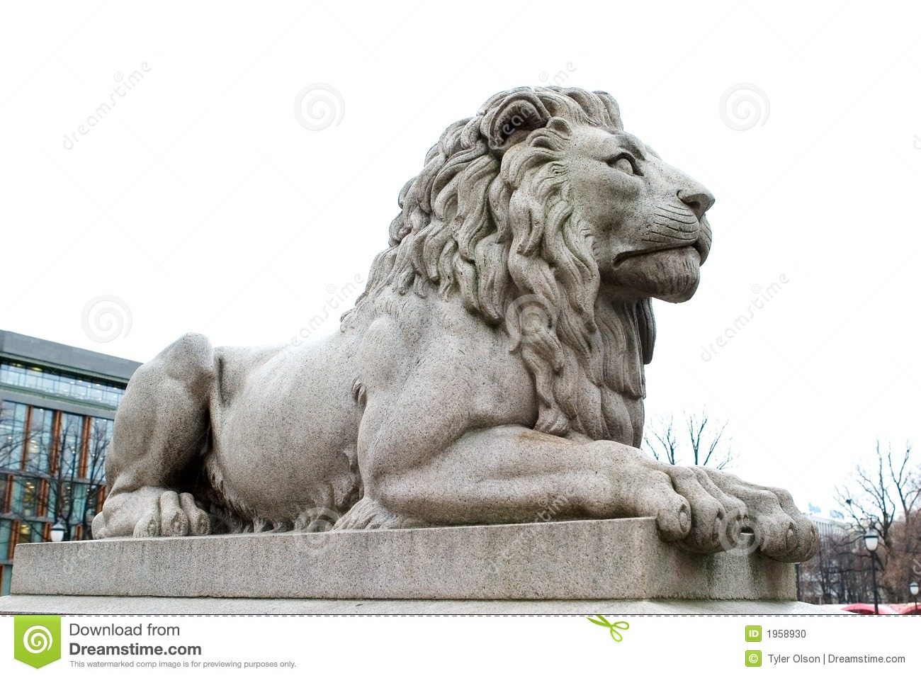 Download Lion Statue stock photo. Image of mane, king, sculpture - 1958930