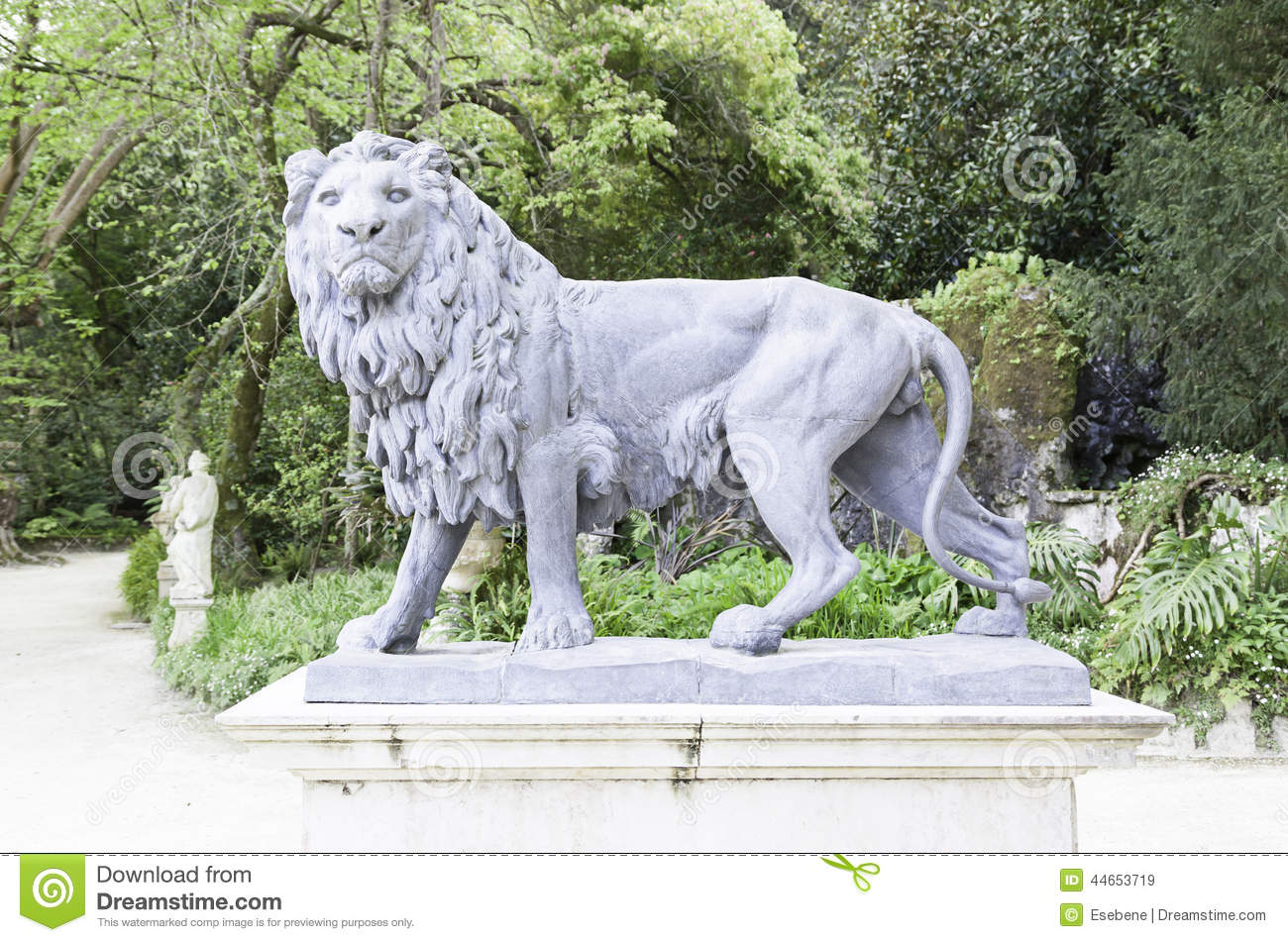 Royalty Free Stock Photo. Download Lion Statue In A Garden ...