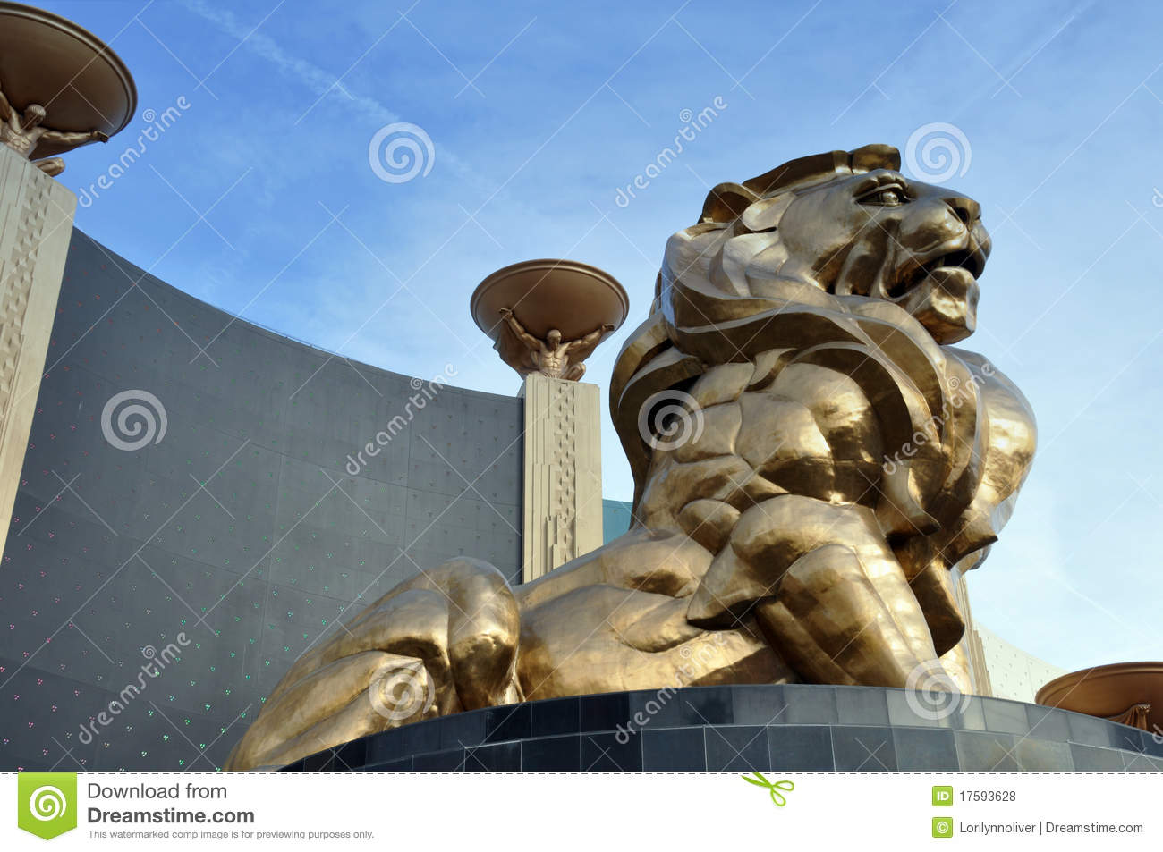 Lion Statue Mgm Grand Editorial Stock Photo Image Of
