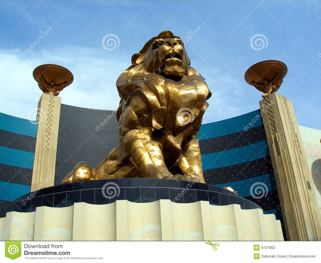 LIon Statue, MGM Grand Editorial Photography - Image: 8721802