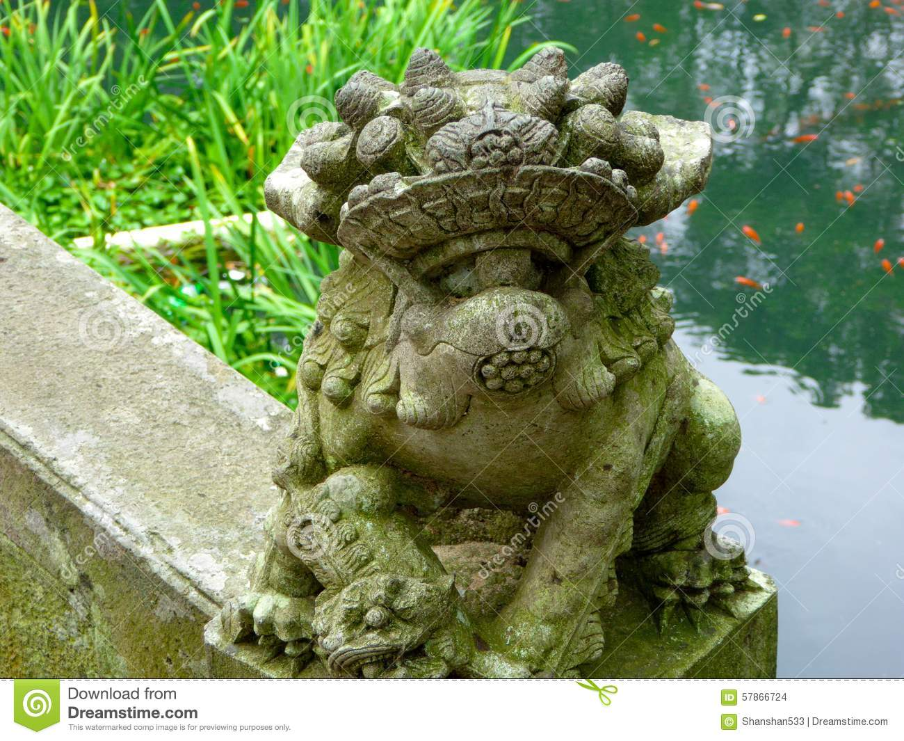 Stone carving lion in china royalty free stock photography