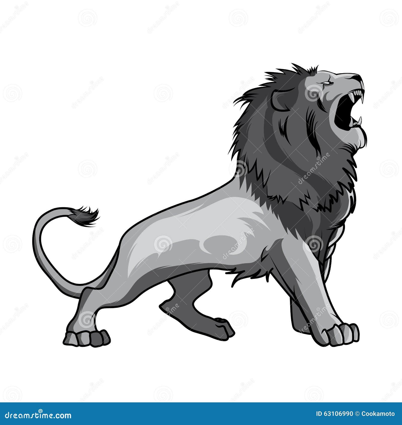 tribal lion in jump cartoon vector 26709819. Black Bedroom Furniture Sets. Home Design Ideas