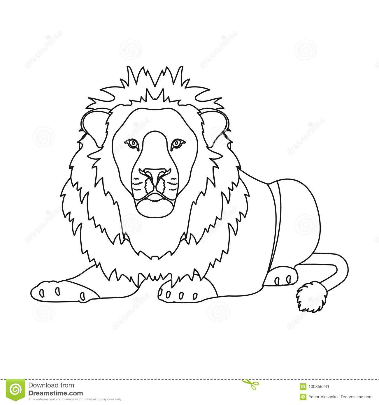 A Lion A Wild And Ferocious Predator Leo The King Of Beasts Single Icon In Outline Style Vector Symbol Stock Cartoondealer Com 100355241 All lion king clip art are png format and transparent background. cartoondealer com