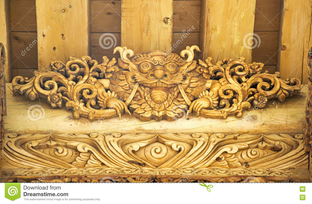 Lion Wood Carving Gate