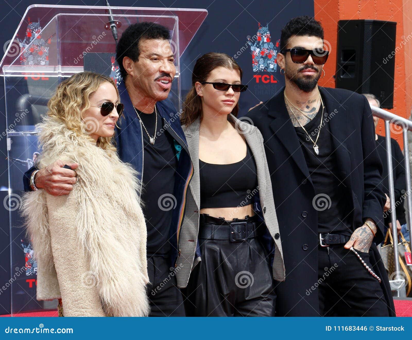 Lionel Richie, Nicole Richie, Sofia Richie och Miles Richie
