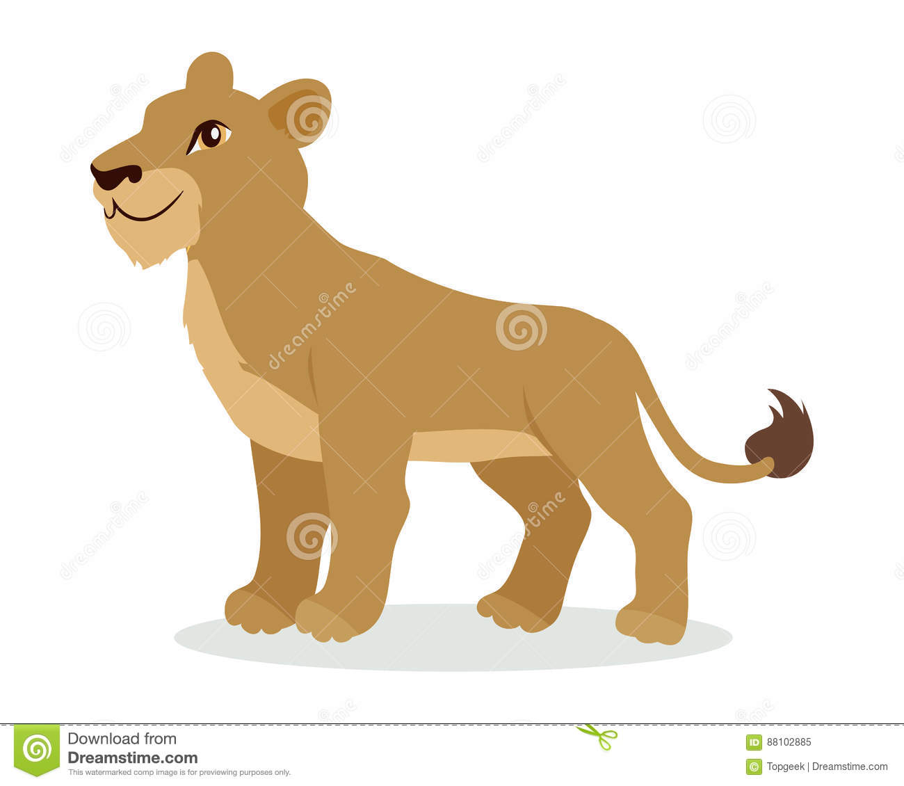 Lioness cartoons illustrations vector stock images