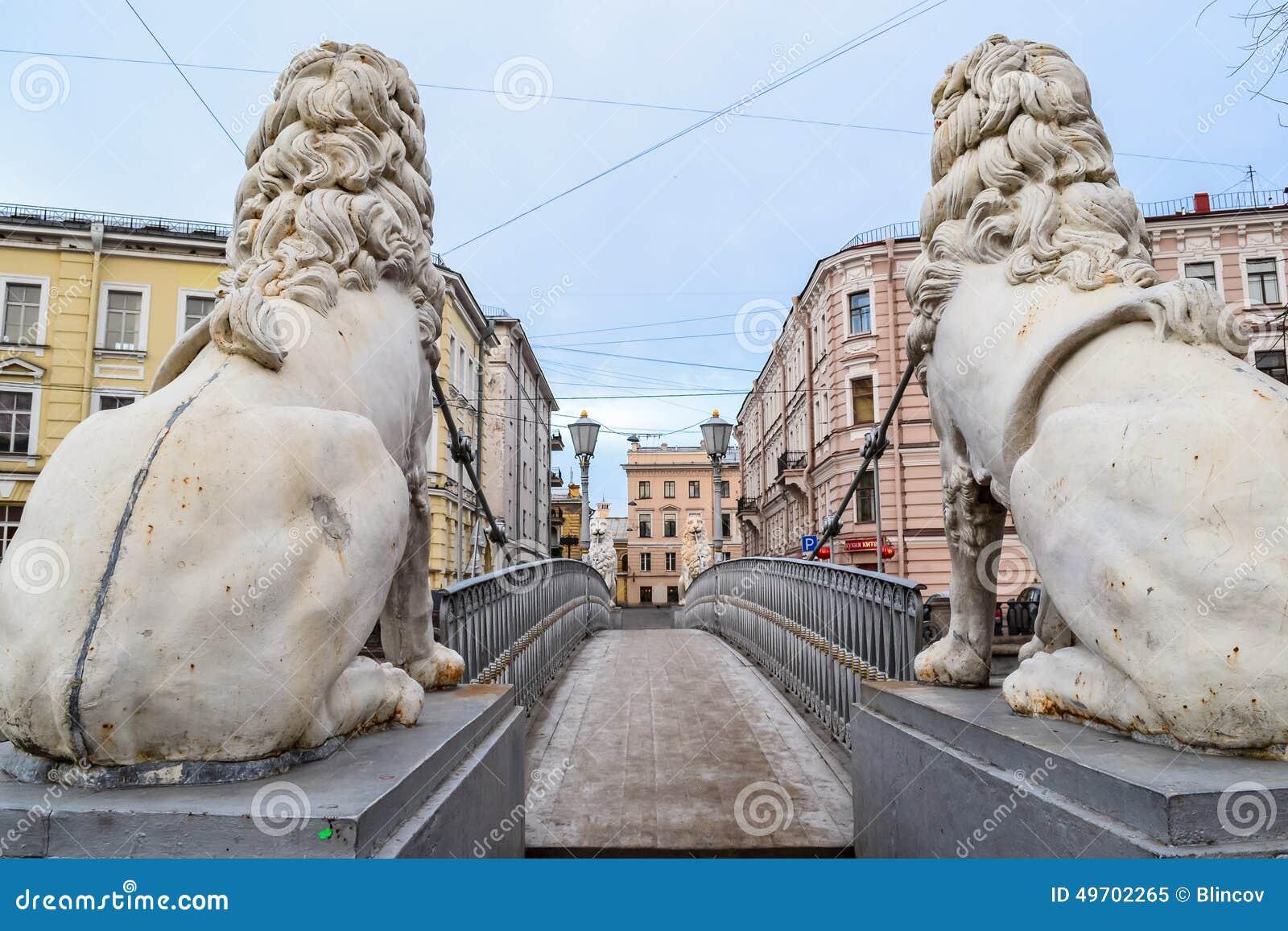 The Lion Bridge in St. Petersburg