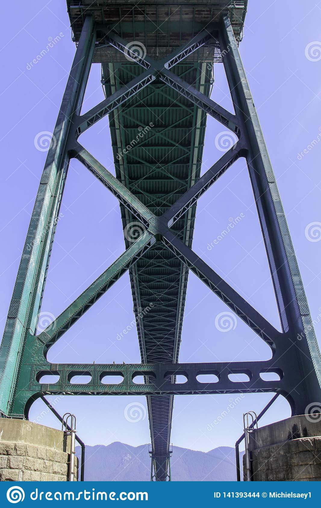 Lions Gate Bridge from the buttom Vancouver