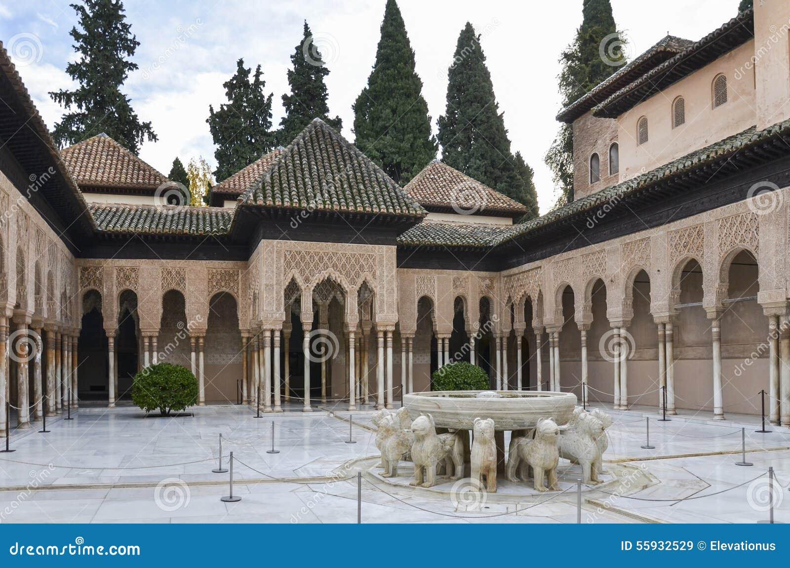 Lions Patio In Alhambra Granada Spain Stock Image Image Of Islam