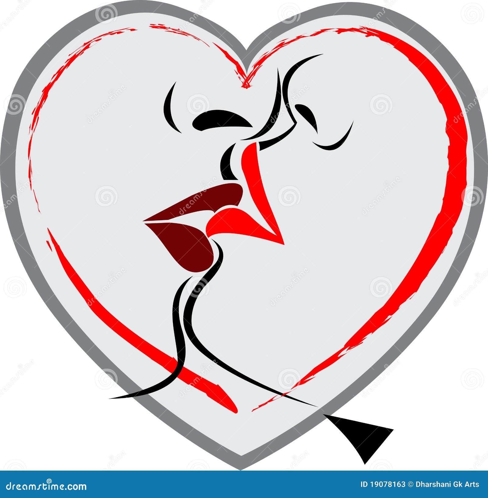 lip kiss logo stock photos image 19078163