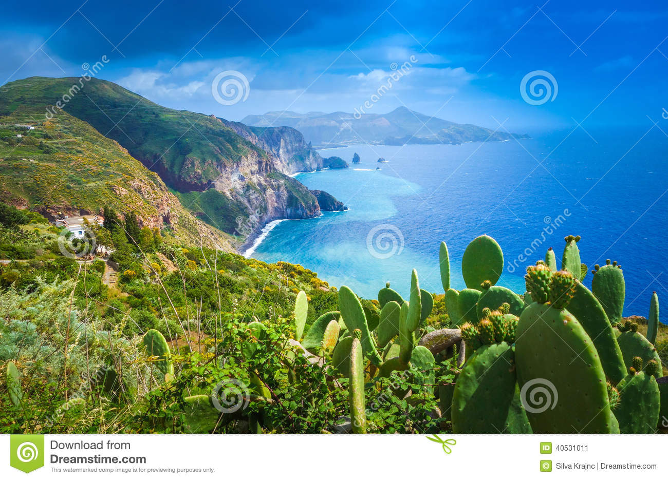 Lipari Island Italy  city photos : Lipari Island, Italy Stock Photo Image: 40531011