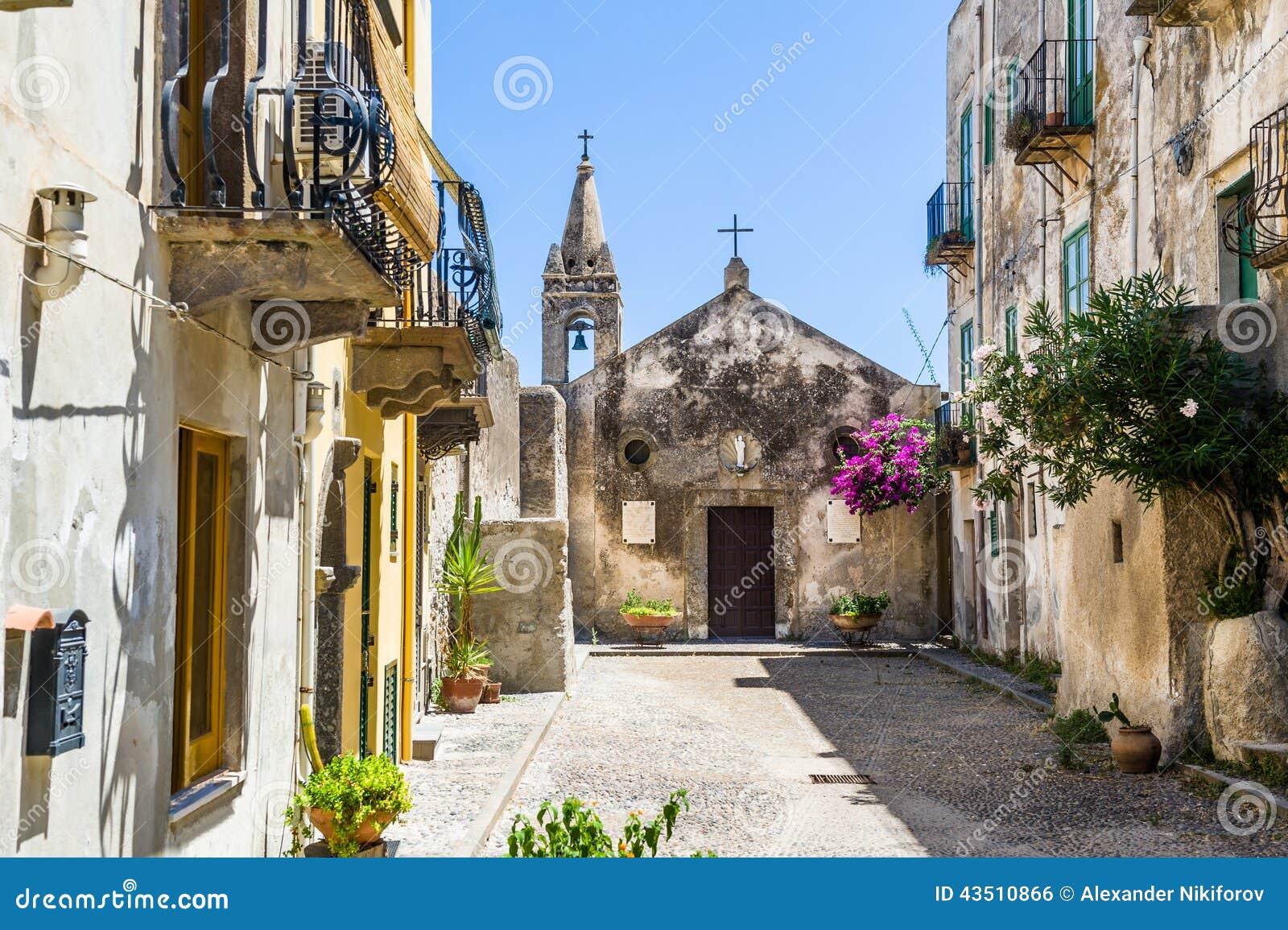 Lipari old town church