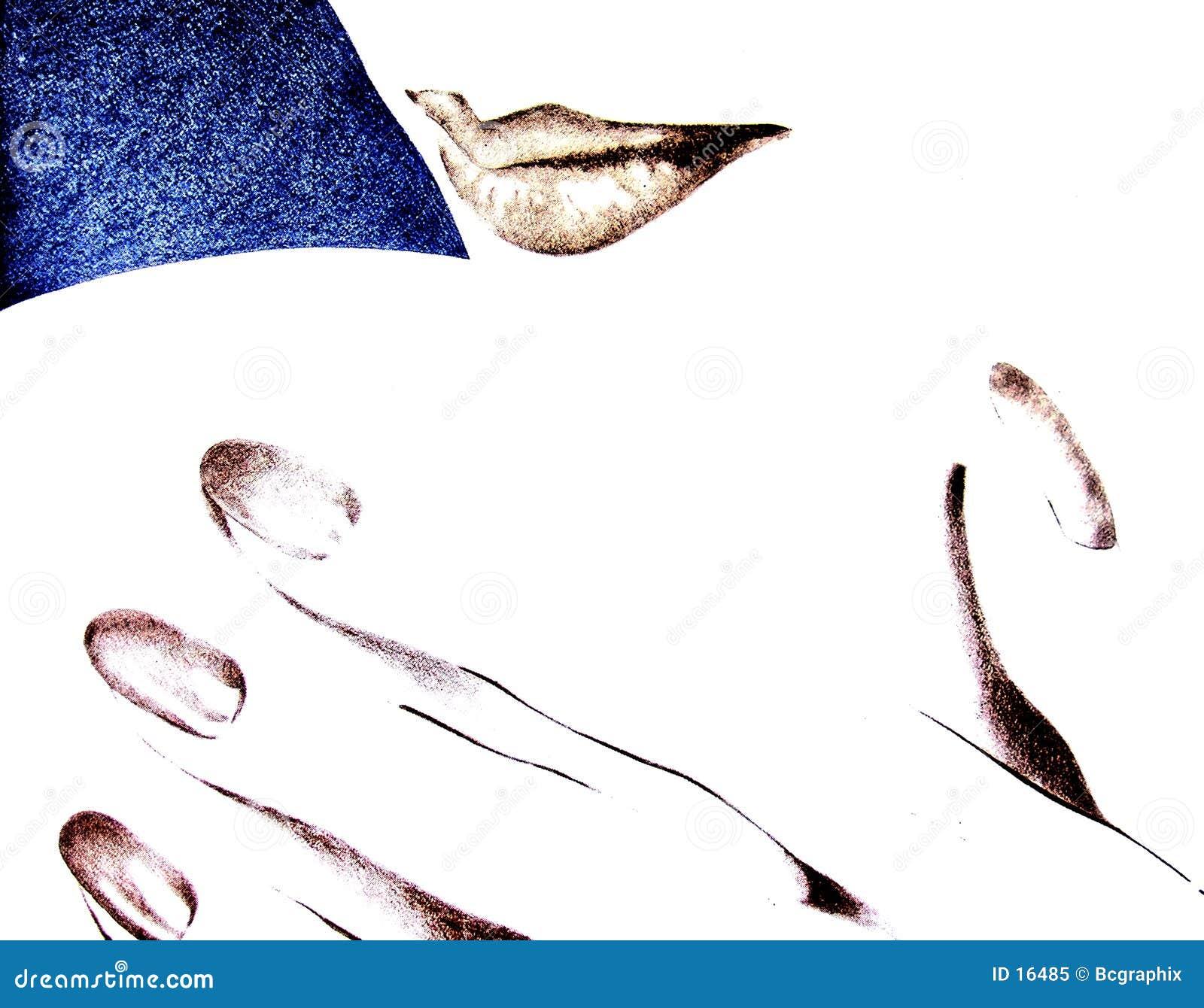Lippen und Hand