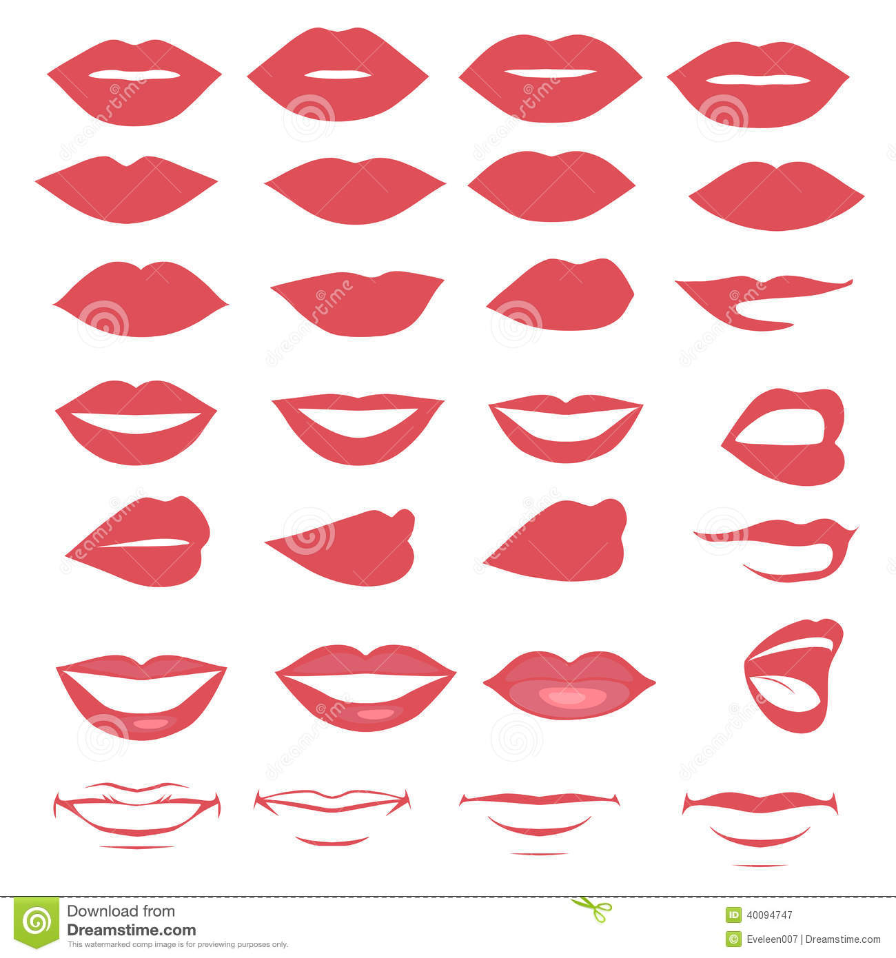 Lips And Mouth Stock Vector - Image: 40094747